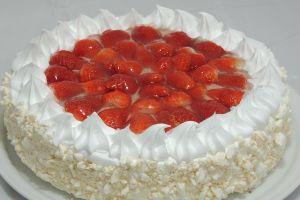 Torta Morango com Baba-de-Moça